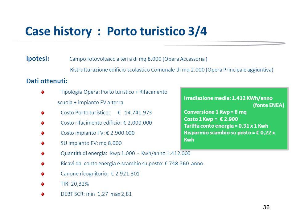 Case history : Porto turistico 3/4