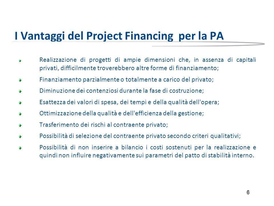 I Vantaggi del Project Financing per la PA
