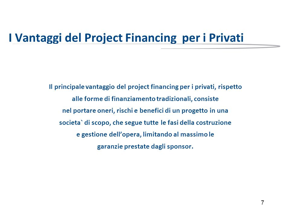 I Vantaggi del Project Financing per i Privati