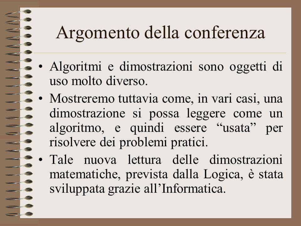 Argomento della conferenza