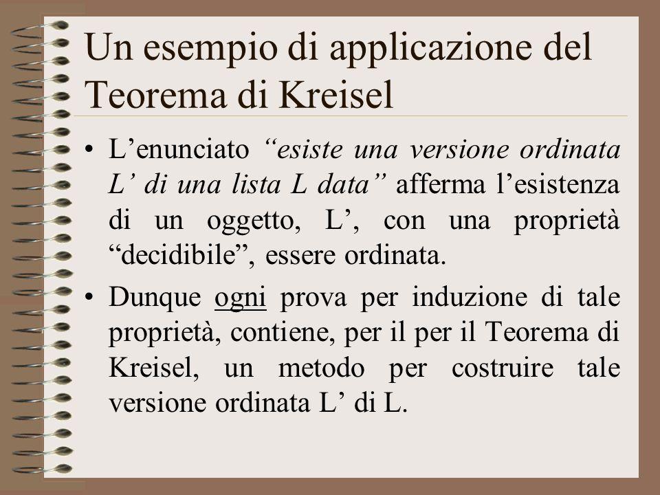 Un esempio di applicazione del Teorema di Kreisel