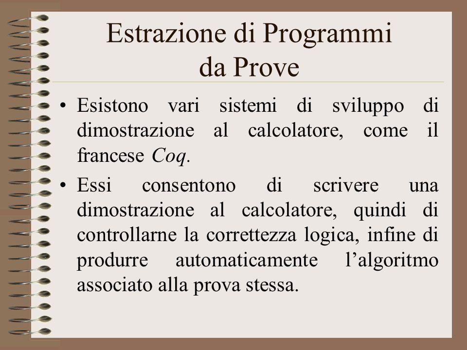 Estrazione di Programmi da Prove