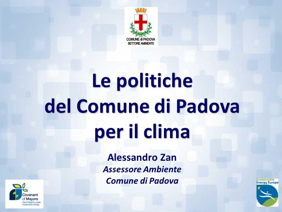 Le politiche del Comune di Padova per il clima