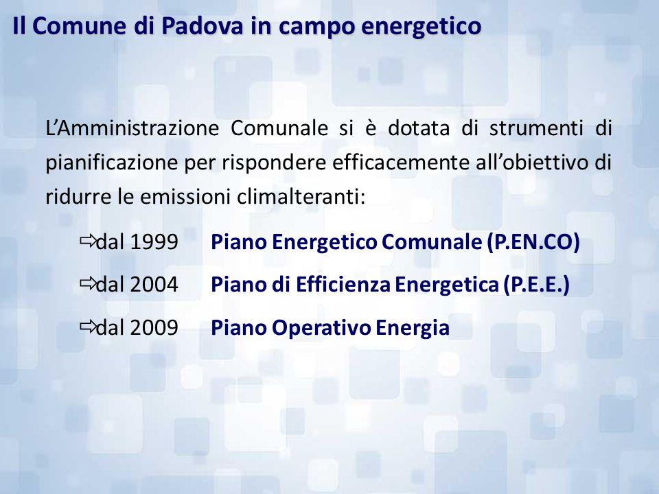 Il Comune di Padova in campo energetico