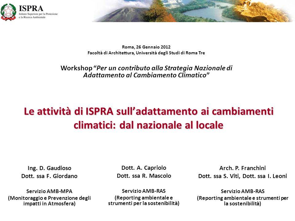 Roma, 26 Gennaio 2012 Facoltà di Architettura, Università degli Studi di Roma Tre.