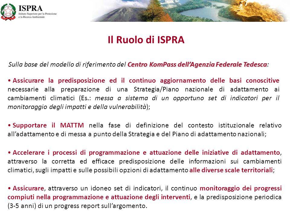 Il Ruolo di ISPRA Sulla base del modello di riferimento del Centro KomPass dell'Agenzia Federale Tedesca: