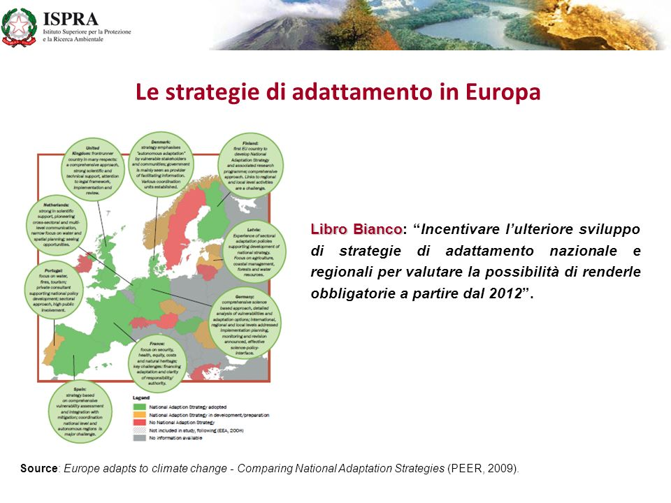 Le strategie di adattamento in Europa