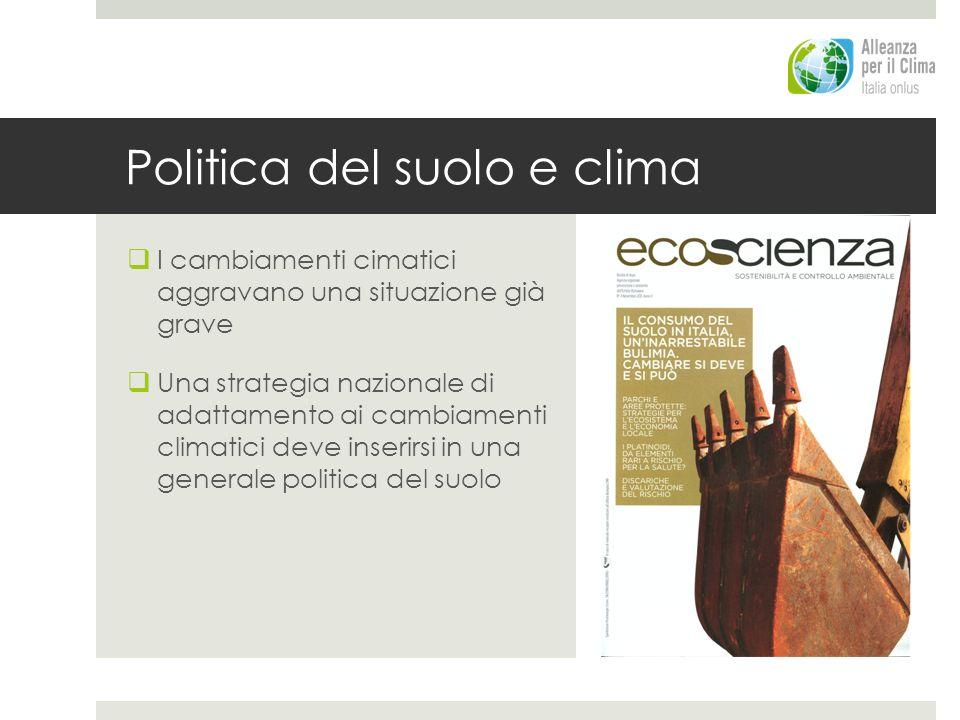 Politica del suolo e clima