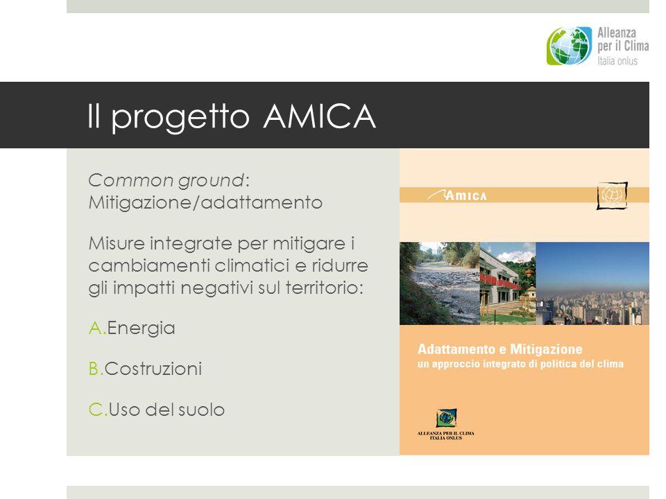 Il progetto AMICA Common ground: Mitigazione/adattamento