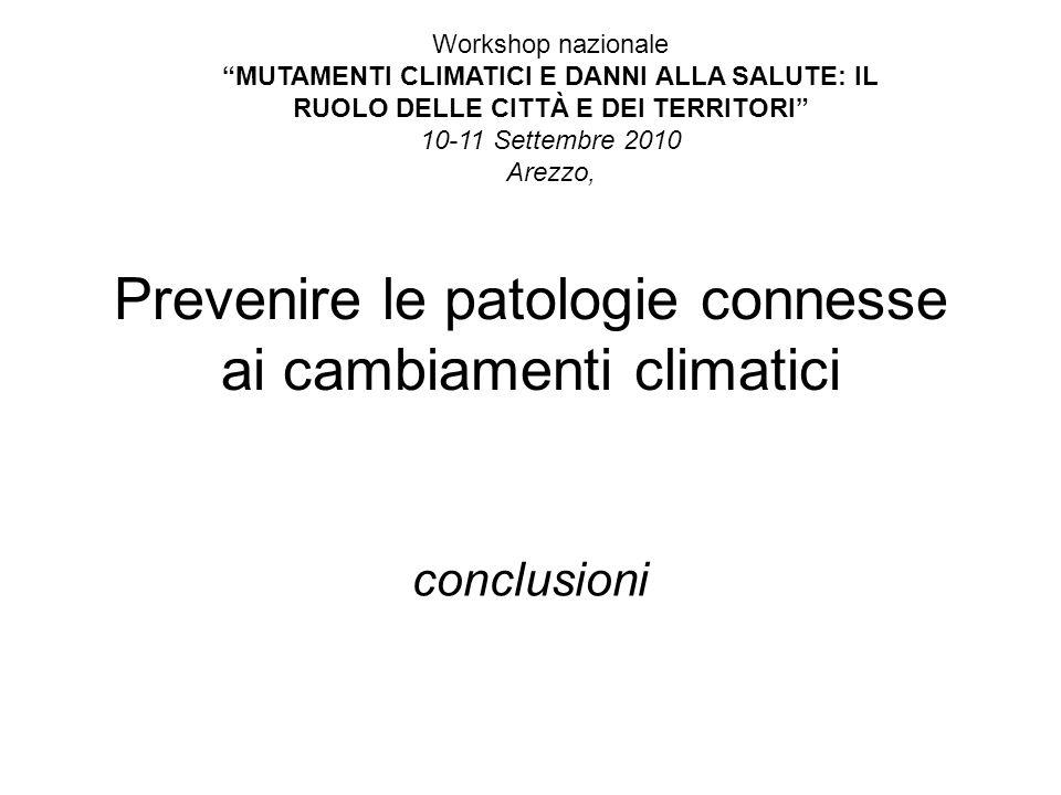 Prevenire le patologie connesse ai cambiamenti climatici