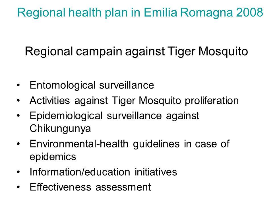 Regional health plan in Emilia Romagna 2008