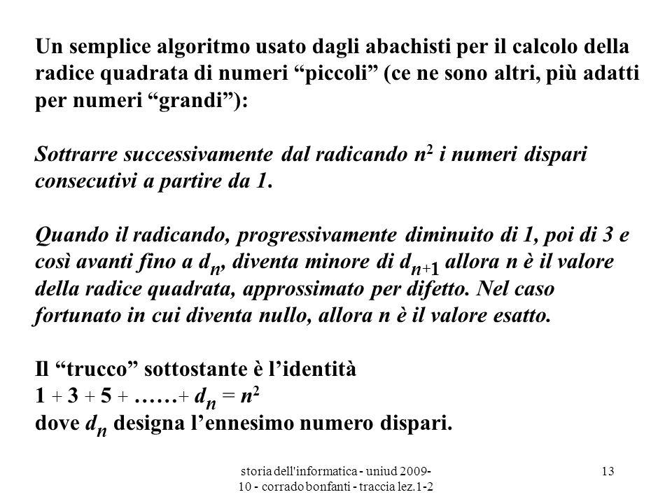 Il trucco sottostante è l'identità 1 + 3 + 5 + ……+ dn = n2