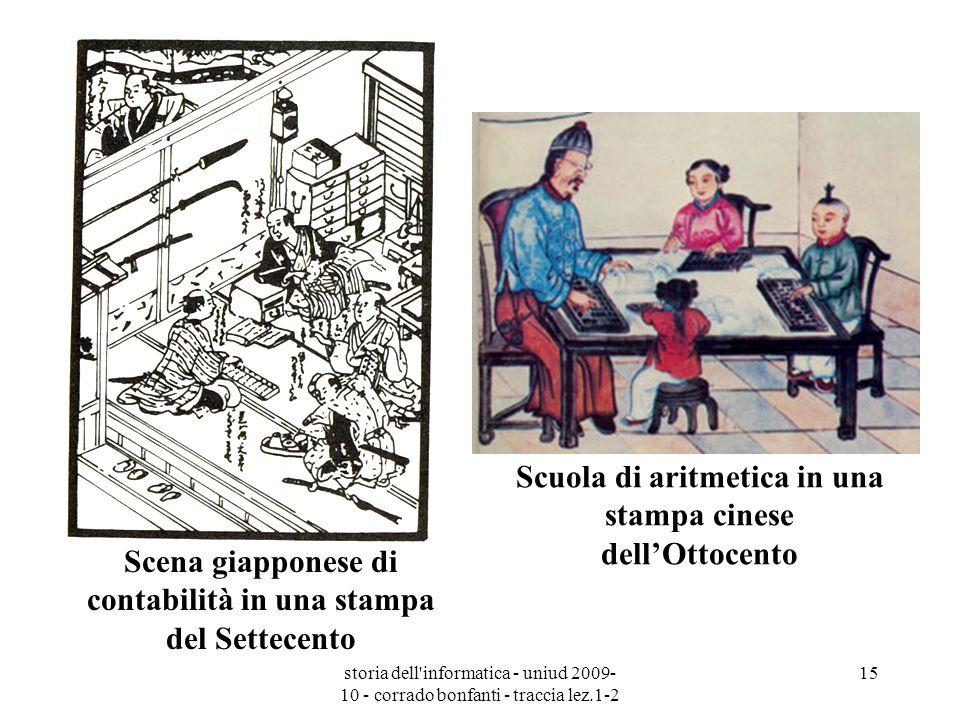 Scuola di aritmetica in una stampa cinese dell'Ottocento