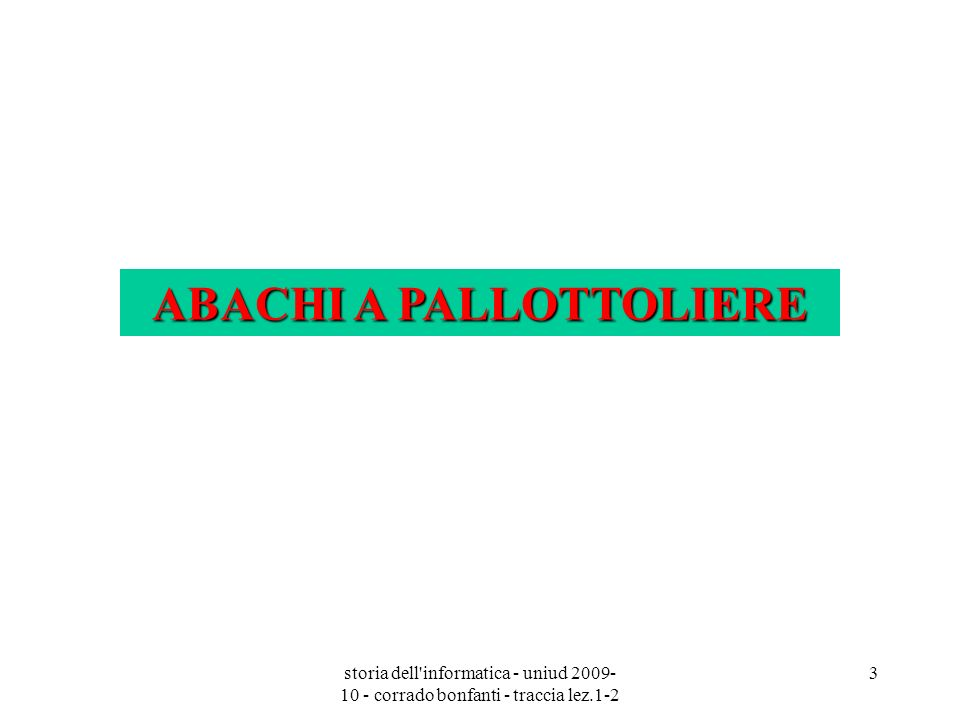 ABACHI A PALLOTTOLIERE