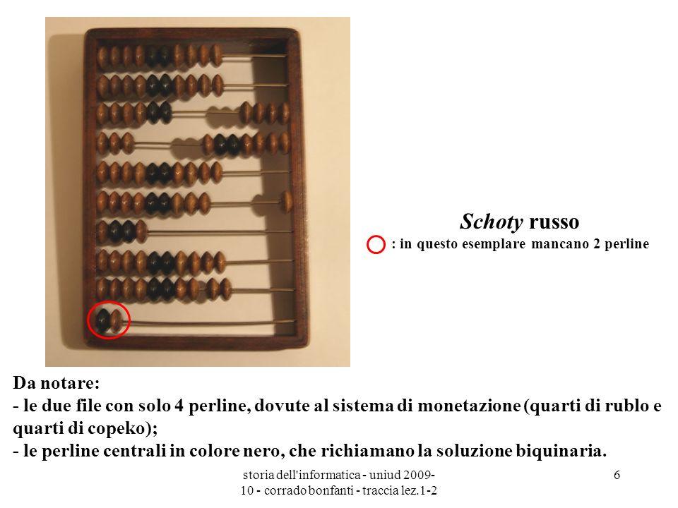 Schoty russo : in questo esemplare mancano 2 perline