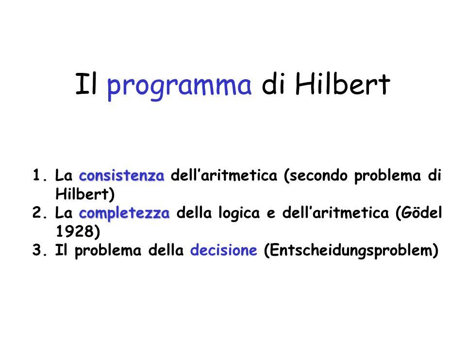 Il programma di Hilbert