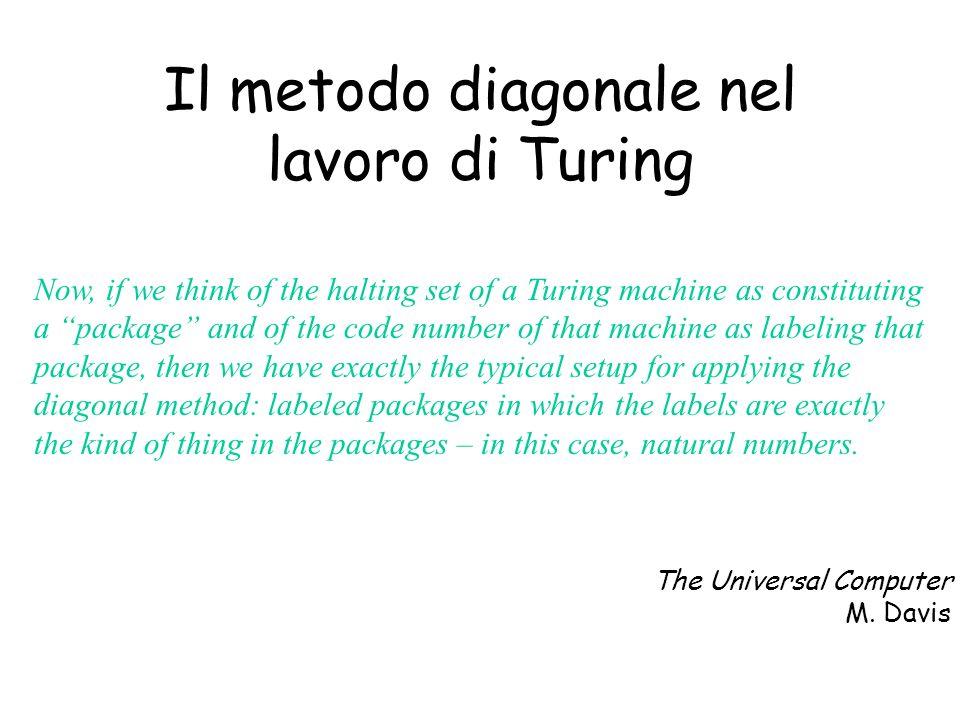 Il metodo diagonale nel lavoro di Turing