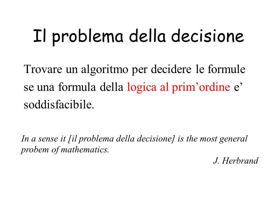 Il problema della decisione