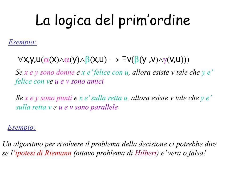 La logica del prim'ordine