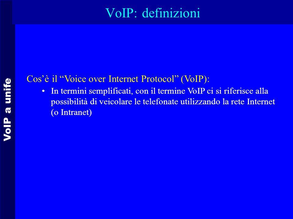 VoIP: definizioni Cos'è il Voice over Internet Protocol (VoIP):
