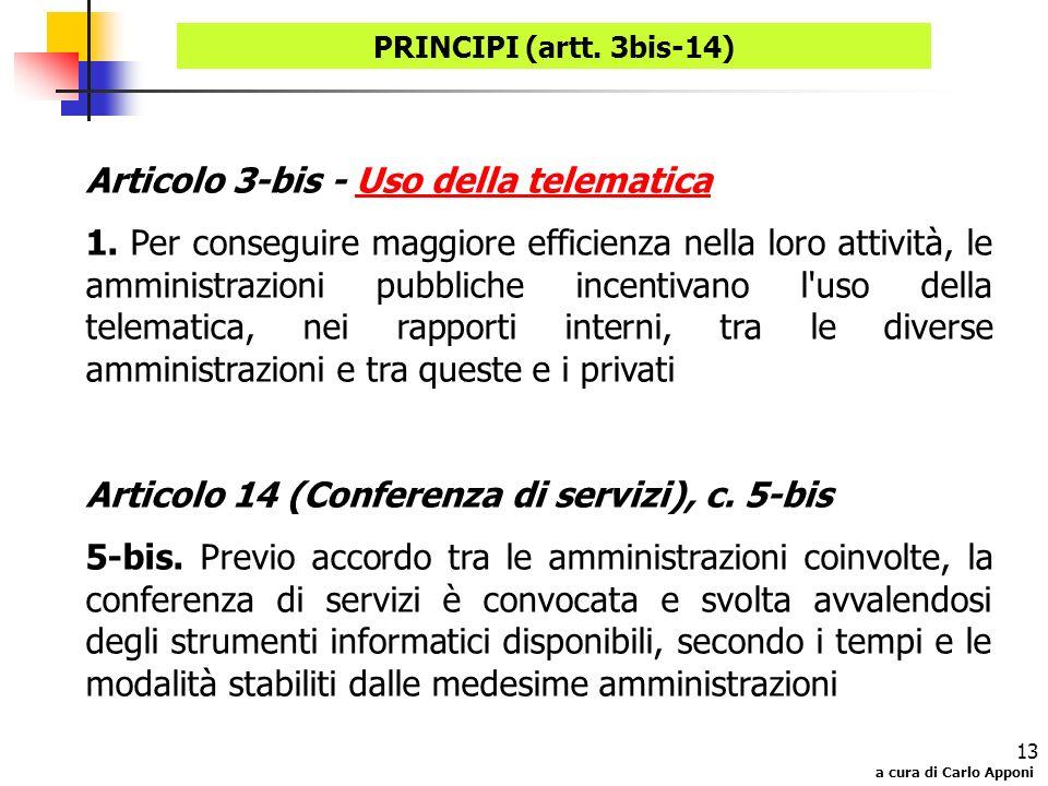 Articolo 3-bis - Uso della telematica