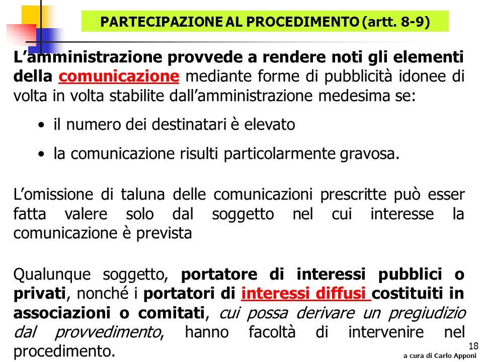 PARTECIPAZIONE AL PROCEDIMENTO (artt. 8-9)