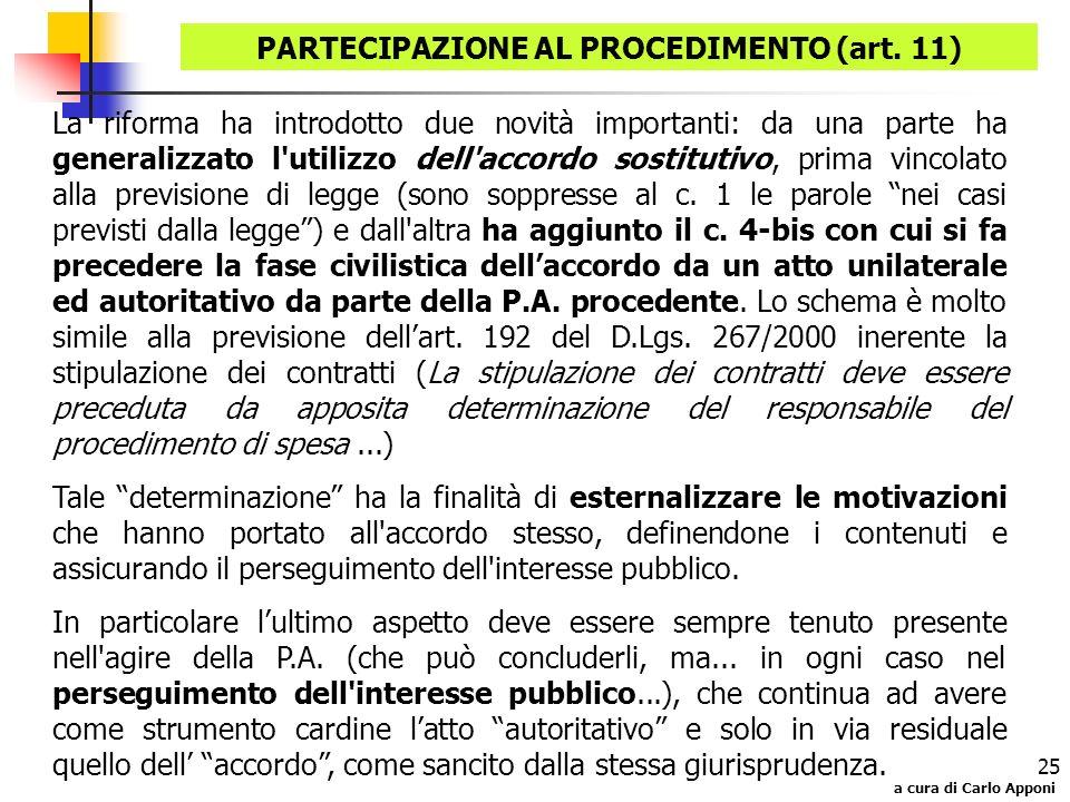 PARTECIPAZIONE AL PROCEDIMENTO (art. 11)