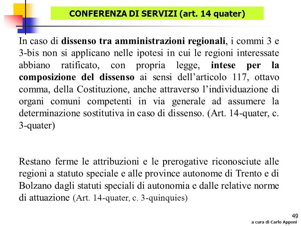 CONFERENZA DI SERVIZI (art. 14 quater)