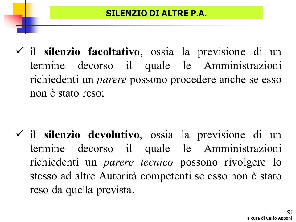 SILENZIO DI ALTRE P.A.