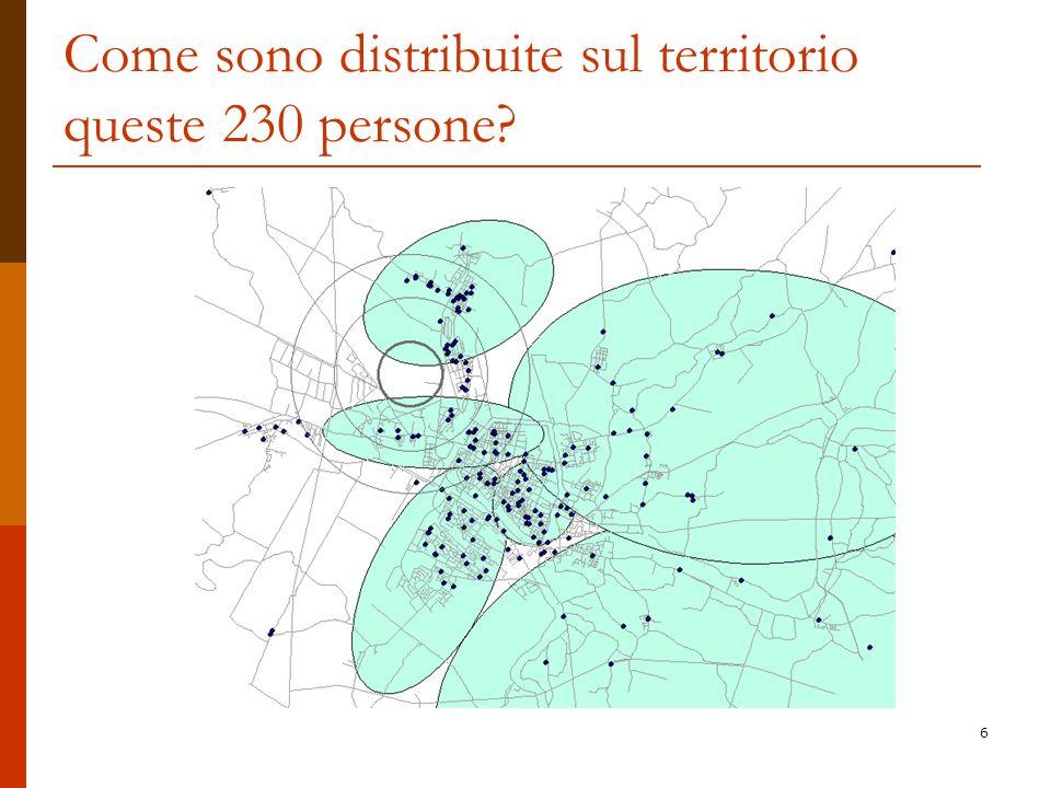 Come sono distribuite sul territorio queste 230 persone