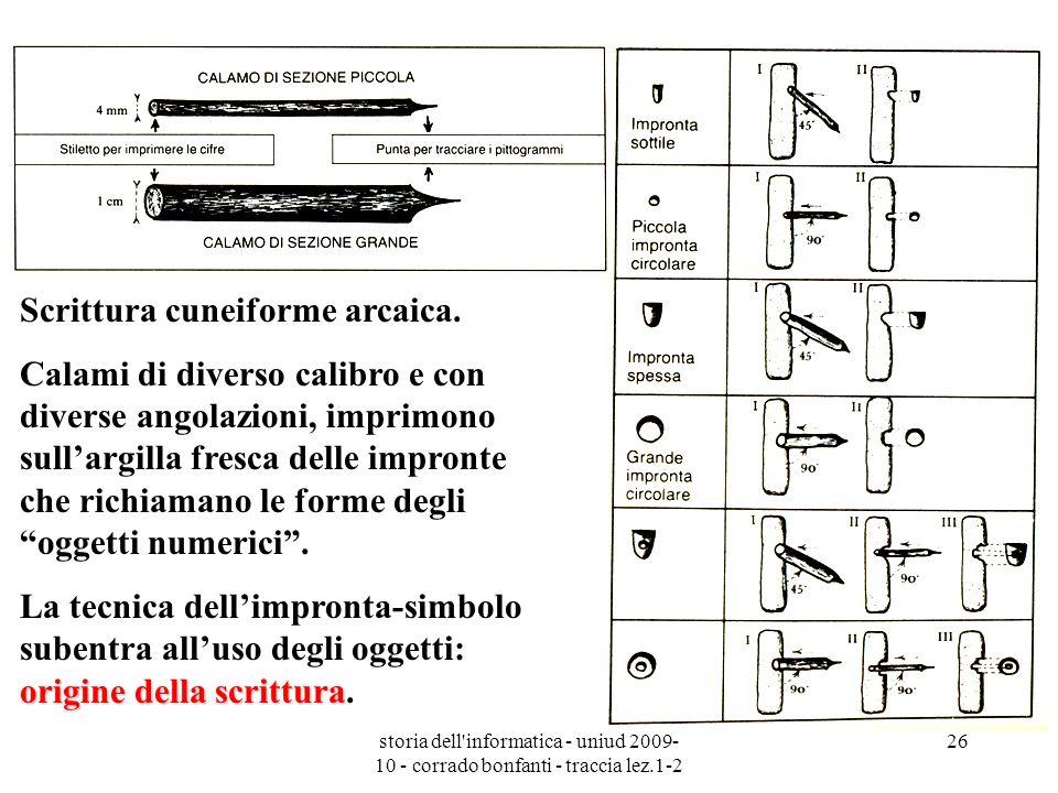 Scrittura cuneiforme arcaica.