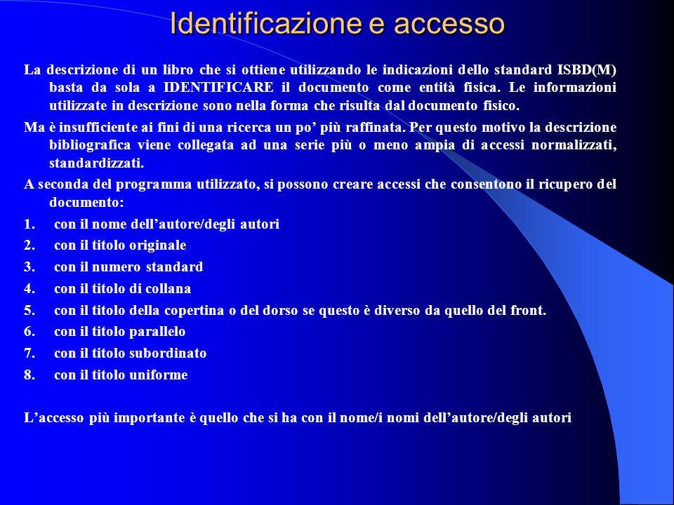 Identificazione e accesso