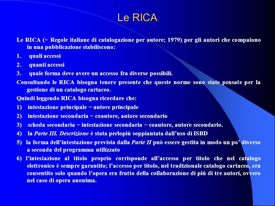 Le RICA
