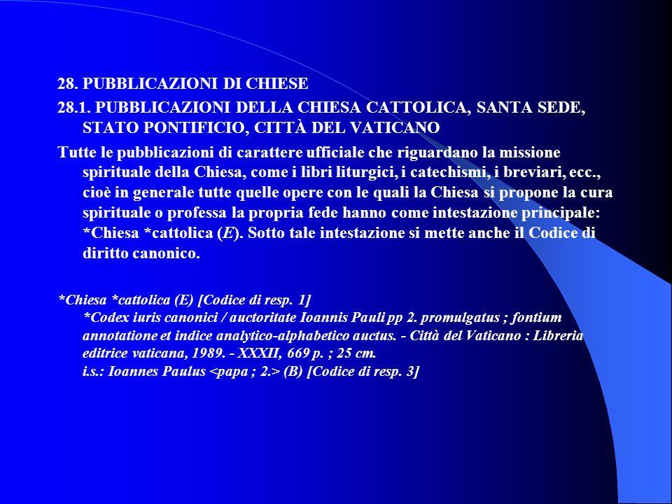 28. PUBBLICAZIONI DI CHIESE