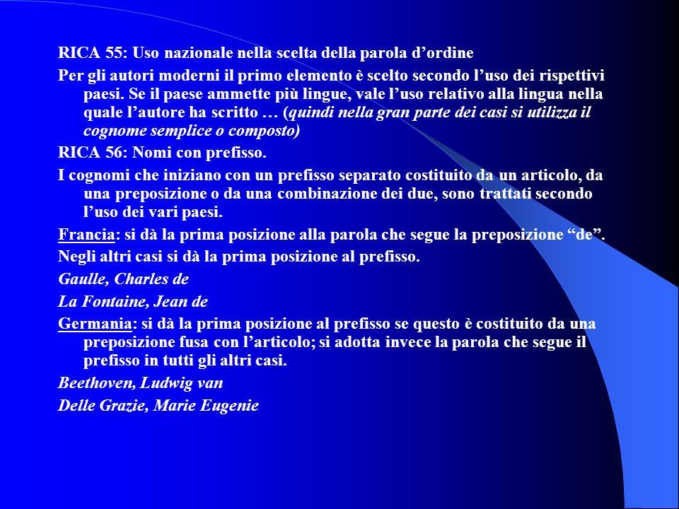 RICA 55: Uso nazionale nella scelta della parola d'ordine
