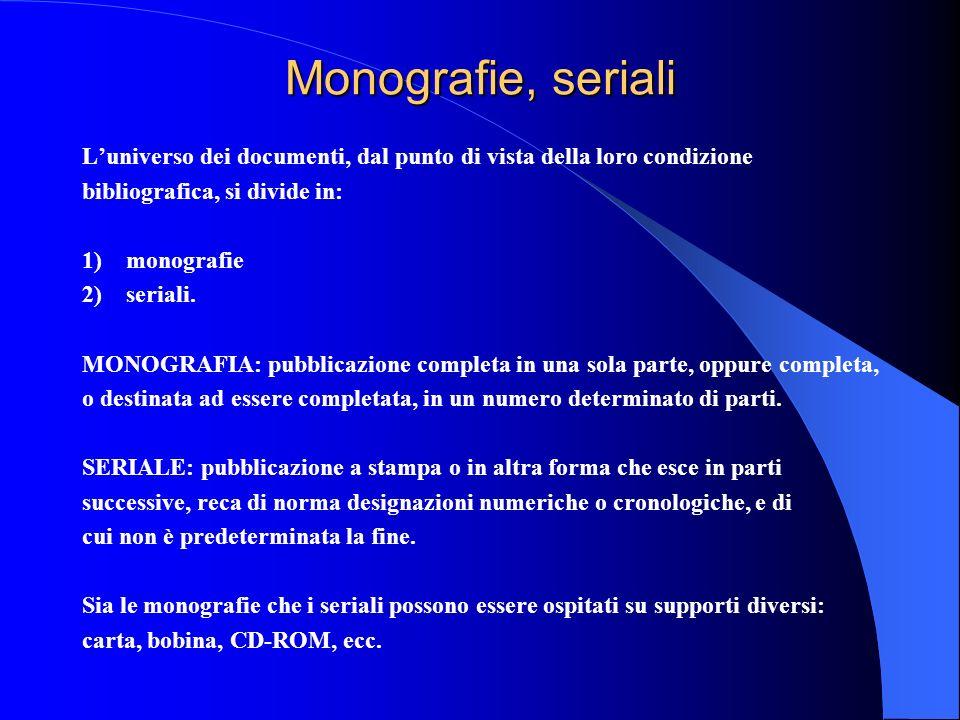 Monografie, seriali