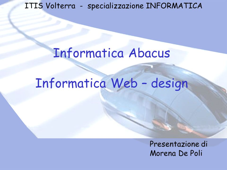 Informatica Web – design