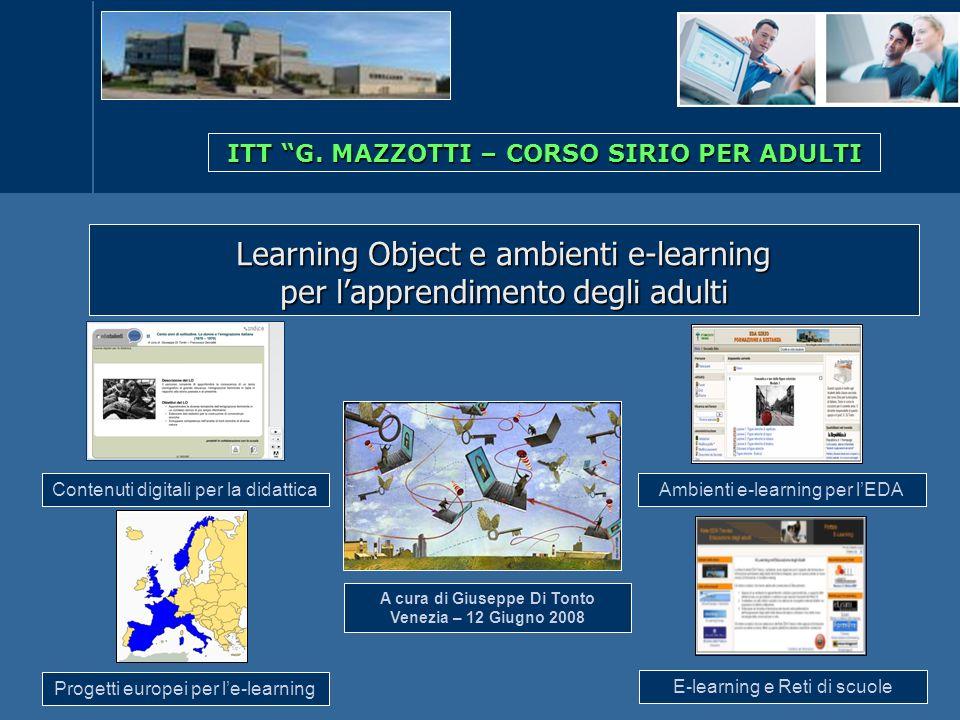 Learning Object e ambienti e-learning per l'apprendimento degli adulti
