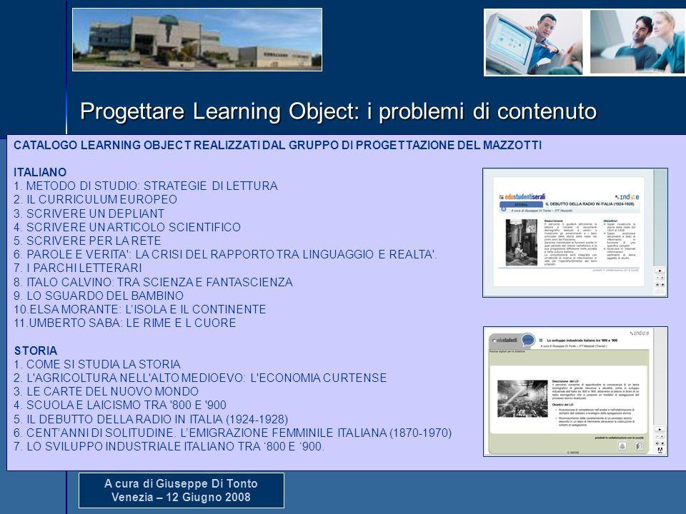 Produzione di Learning Object (LO) del Sirio Mazzotti