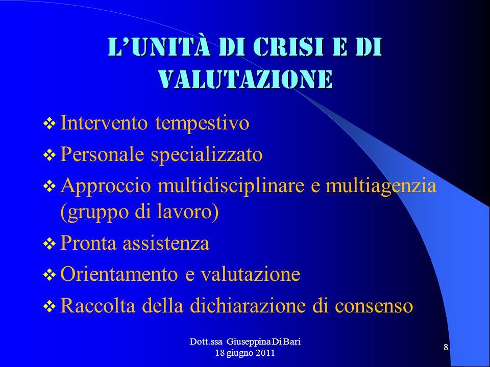L'unità di crisi e di valutazione