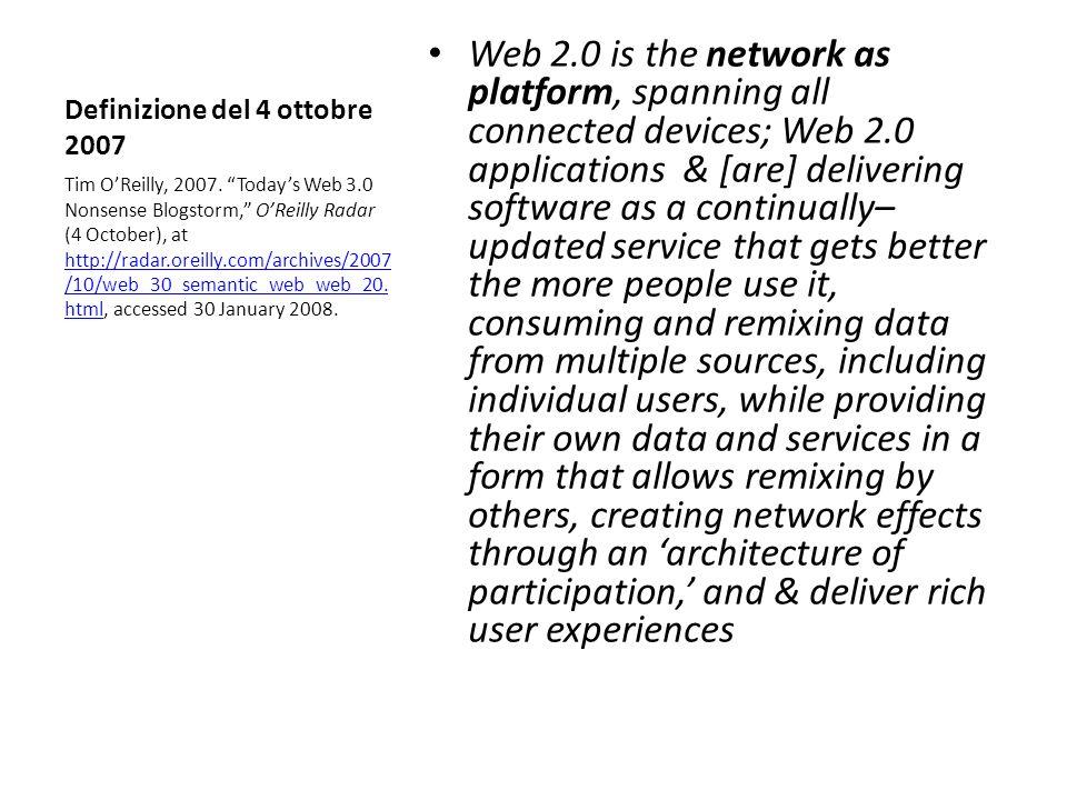 Definizione del 4 ottobre 2007