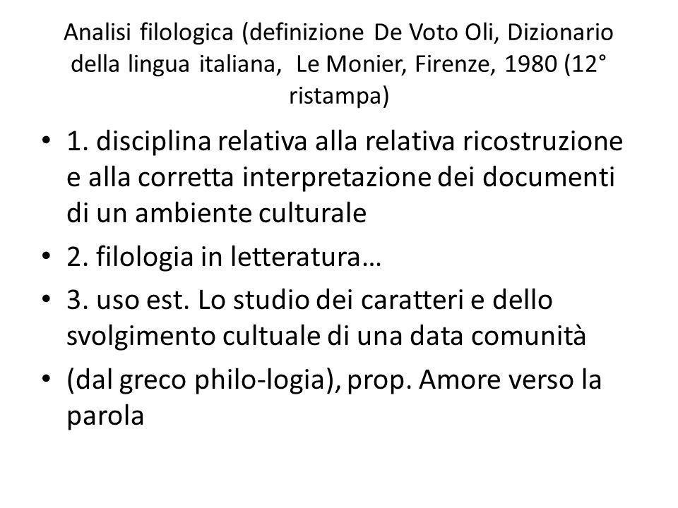 2. filologia in letteratura…