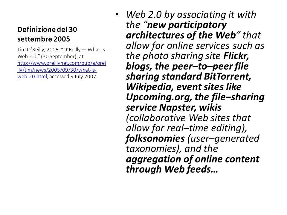 Definizione del 30 settembre 2005