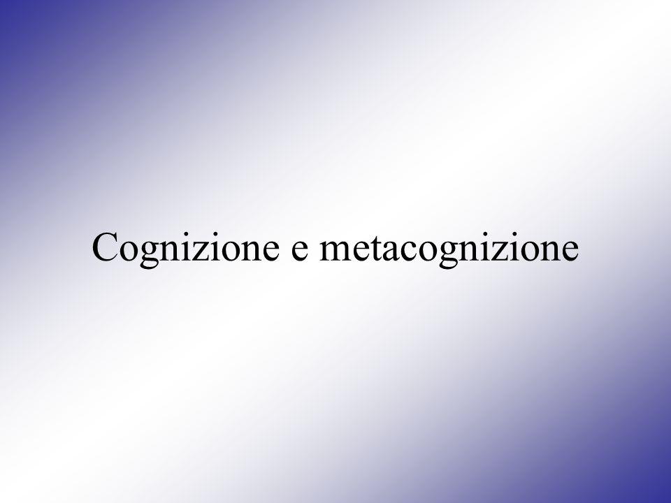 Cognizione e metacognizione