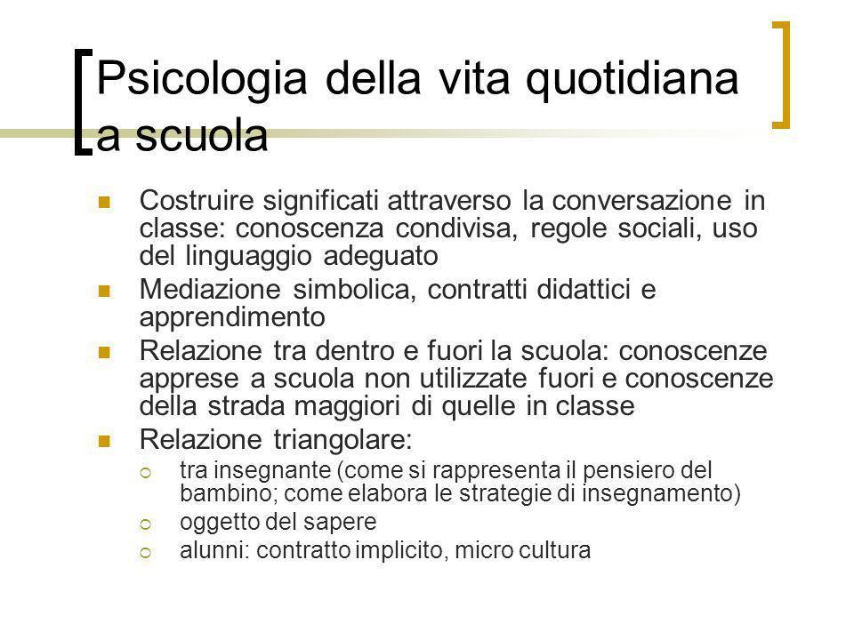 Psicologia della vita quotidiana a scuola