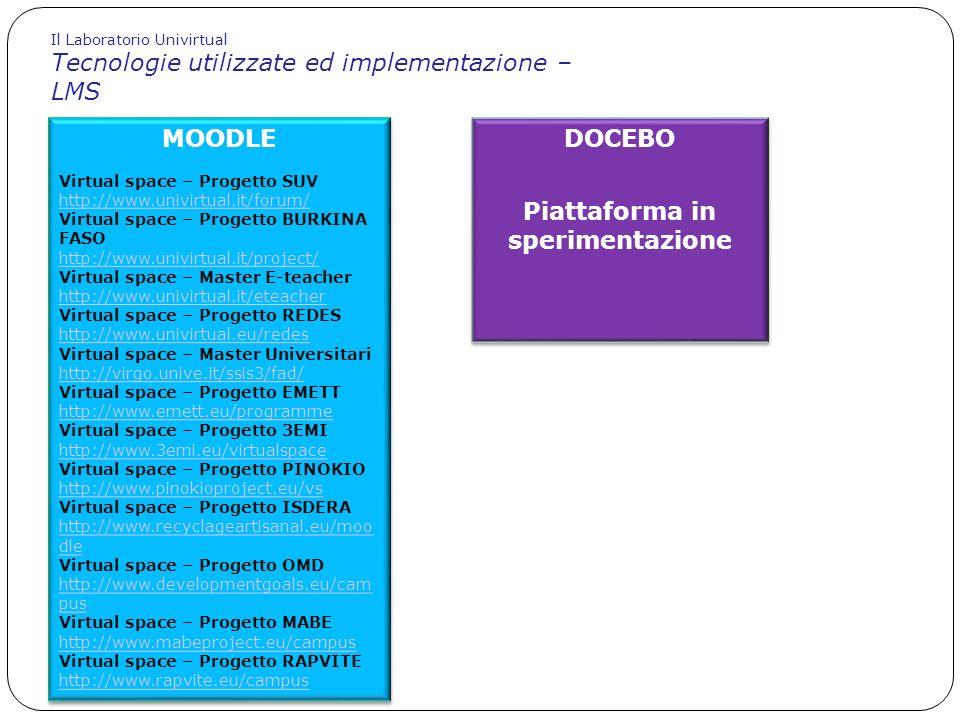 Piattaforma in sperimentazione