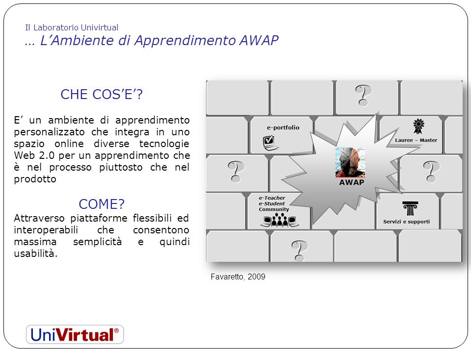 … L'Ambiente di Apprendimento AWAP