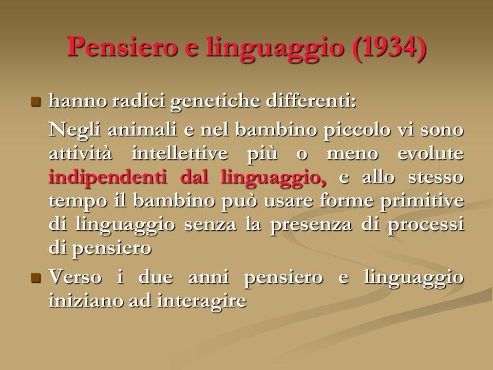 Pensiero e linguaggio (1934)
