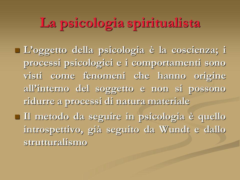 La psicologia spiritualista