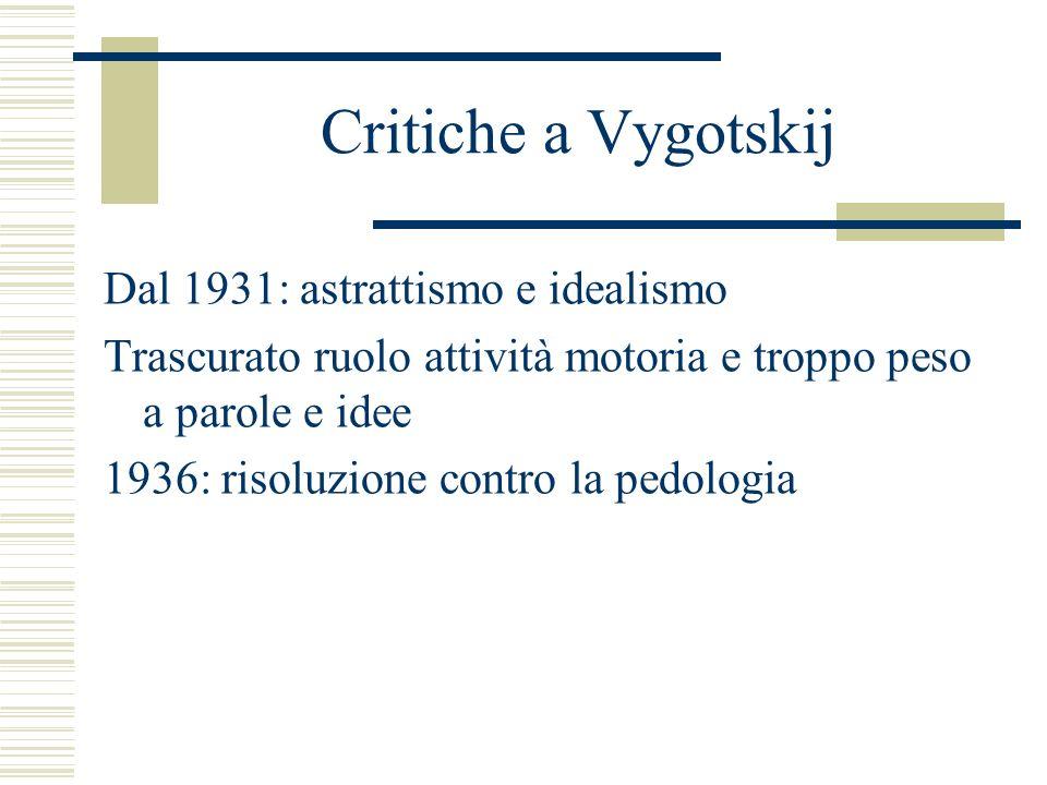 Critiche a Vygotskij